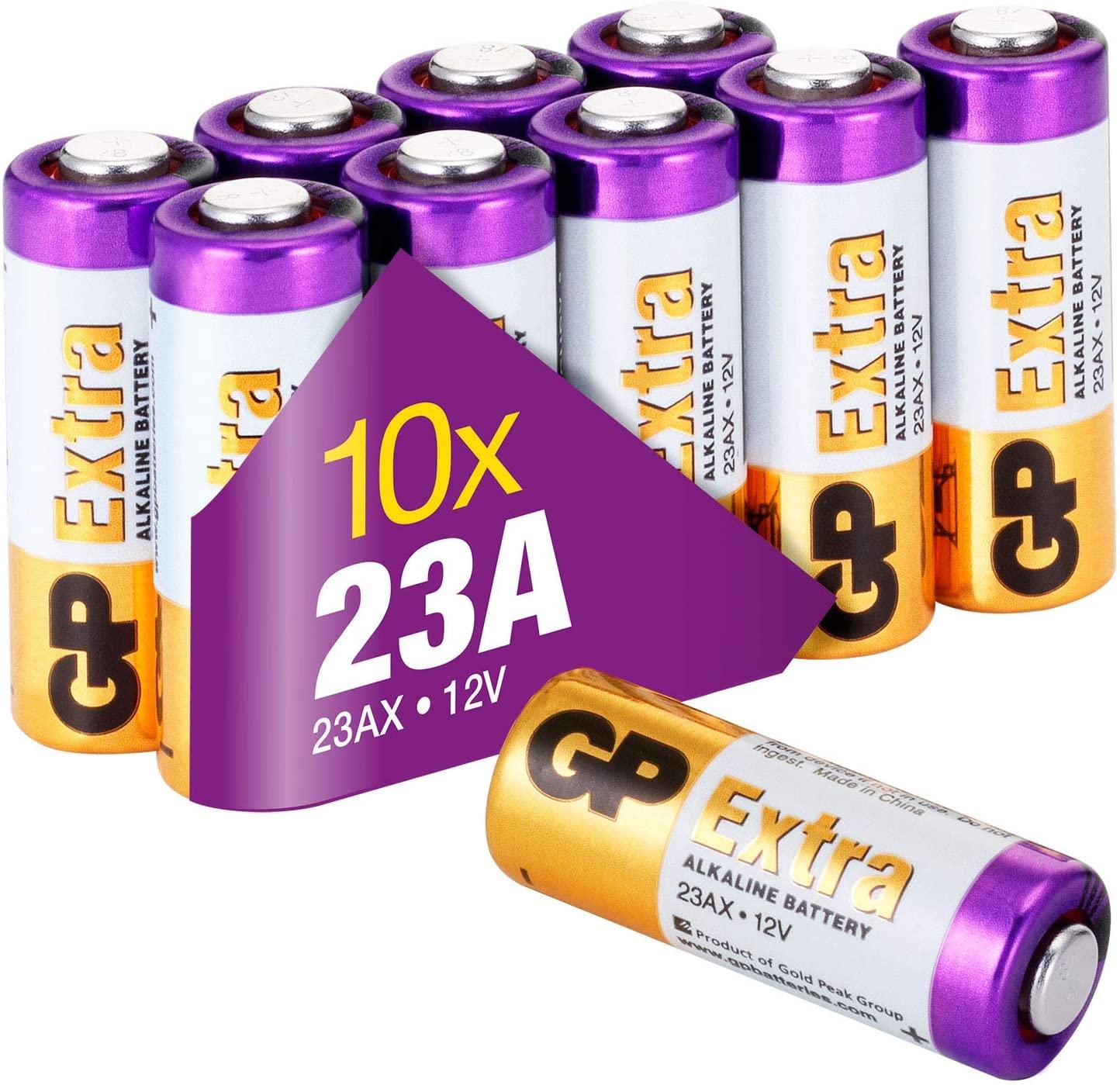Pack 10 pilas alcalinas 23A 12v
