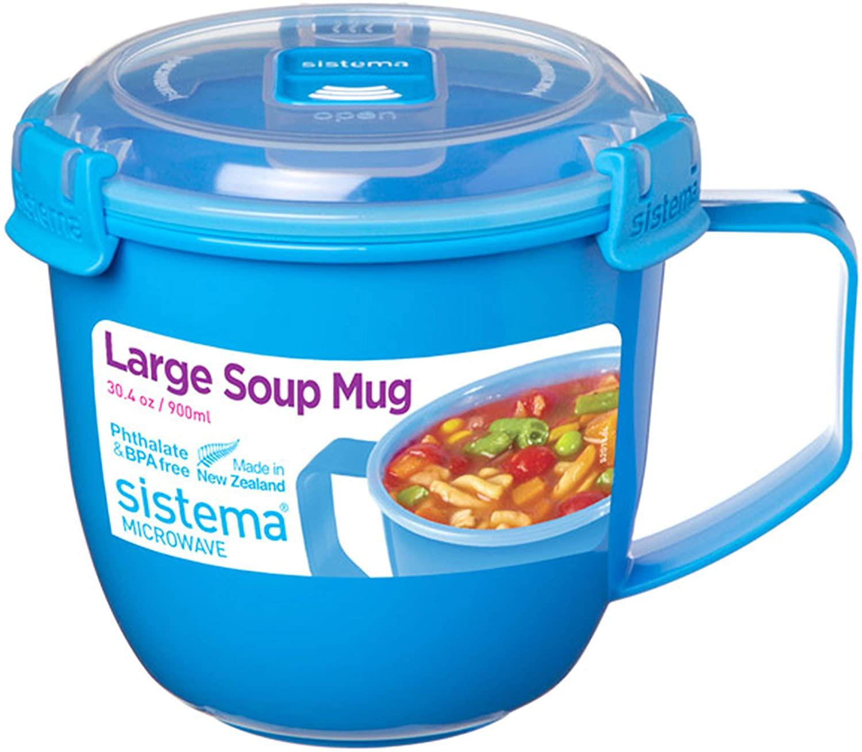 Taza de Sopa para microondas de 900 ml
