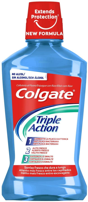 3x Enjuague Bucal Colgate triple acción 500ml