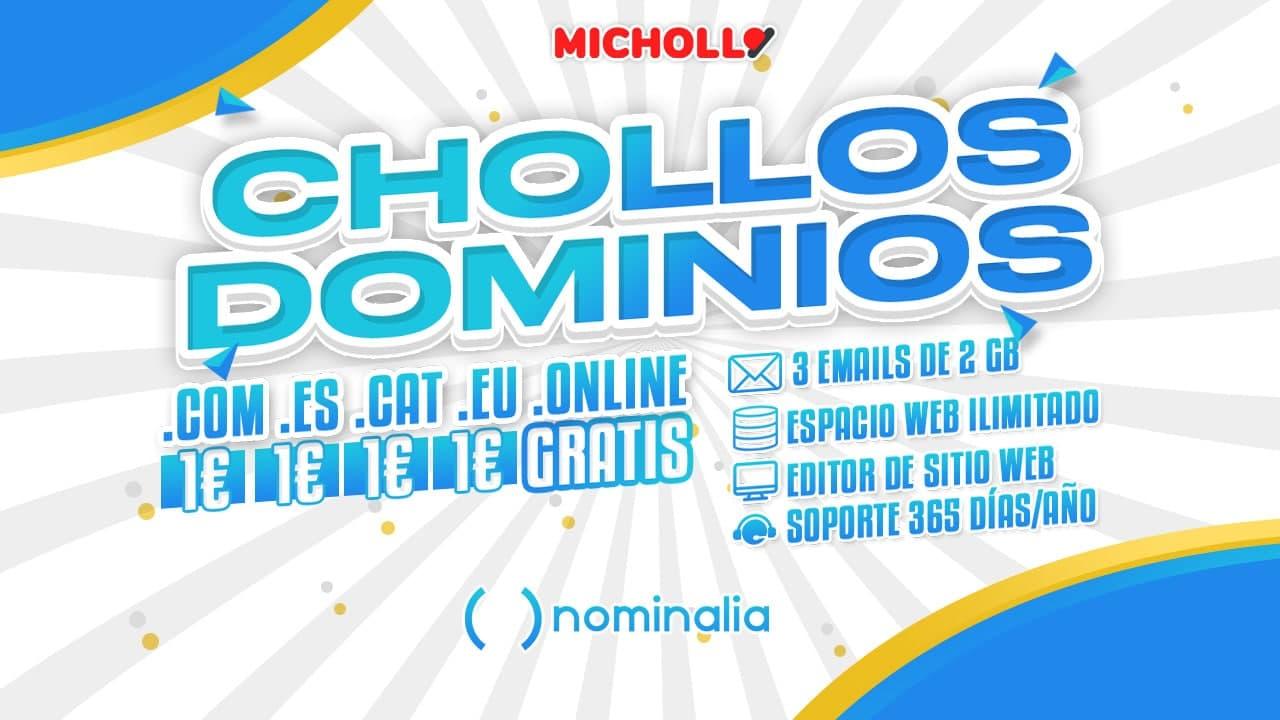 Chollo Dominios con Hosting en Nominalia a 1€ e incluso GRATIS