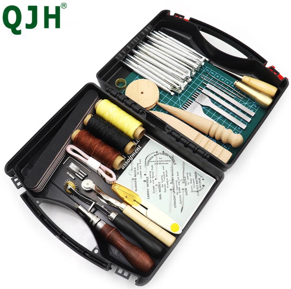 Kit de herramientas artesanales de cuero