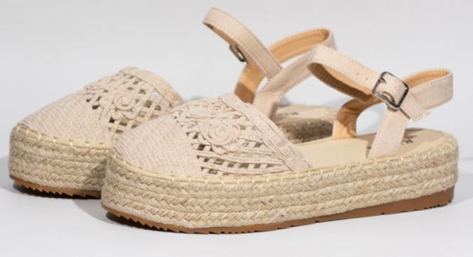 Sandalias de esparto para mujer
