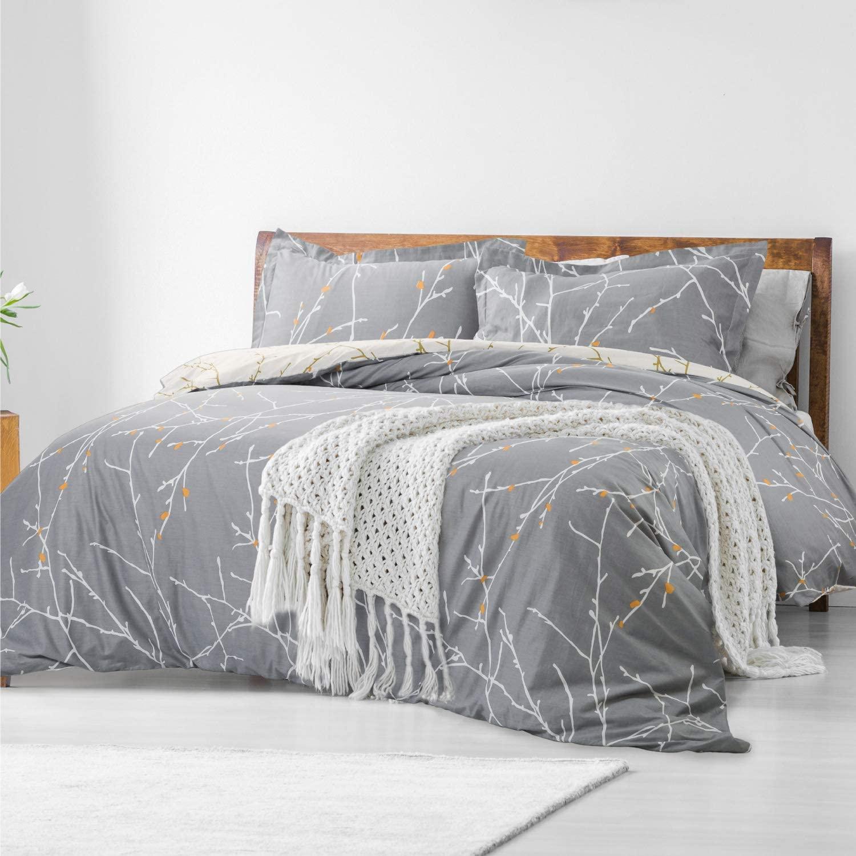 Funda de nórdico reversible para cama de 90 beige oscuro