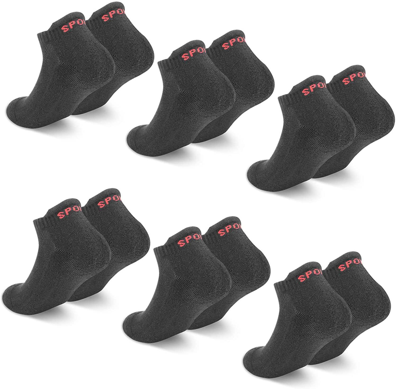 Seis pares de Calcetines Tobilleros Unisex