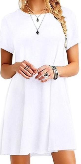Vestido de verano de manga corta para mujer