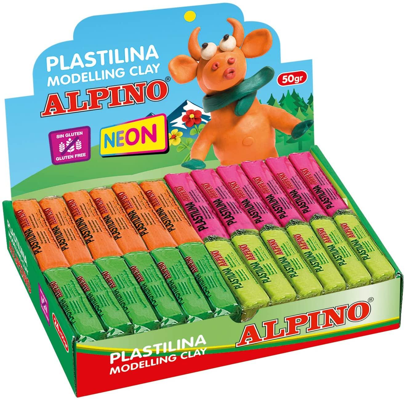 Alpino expositor 24 unidades de plastilina