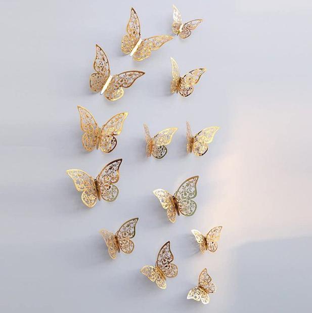 Set 12 pegatinas Mariposas 3D