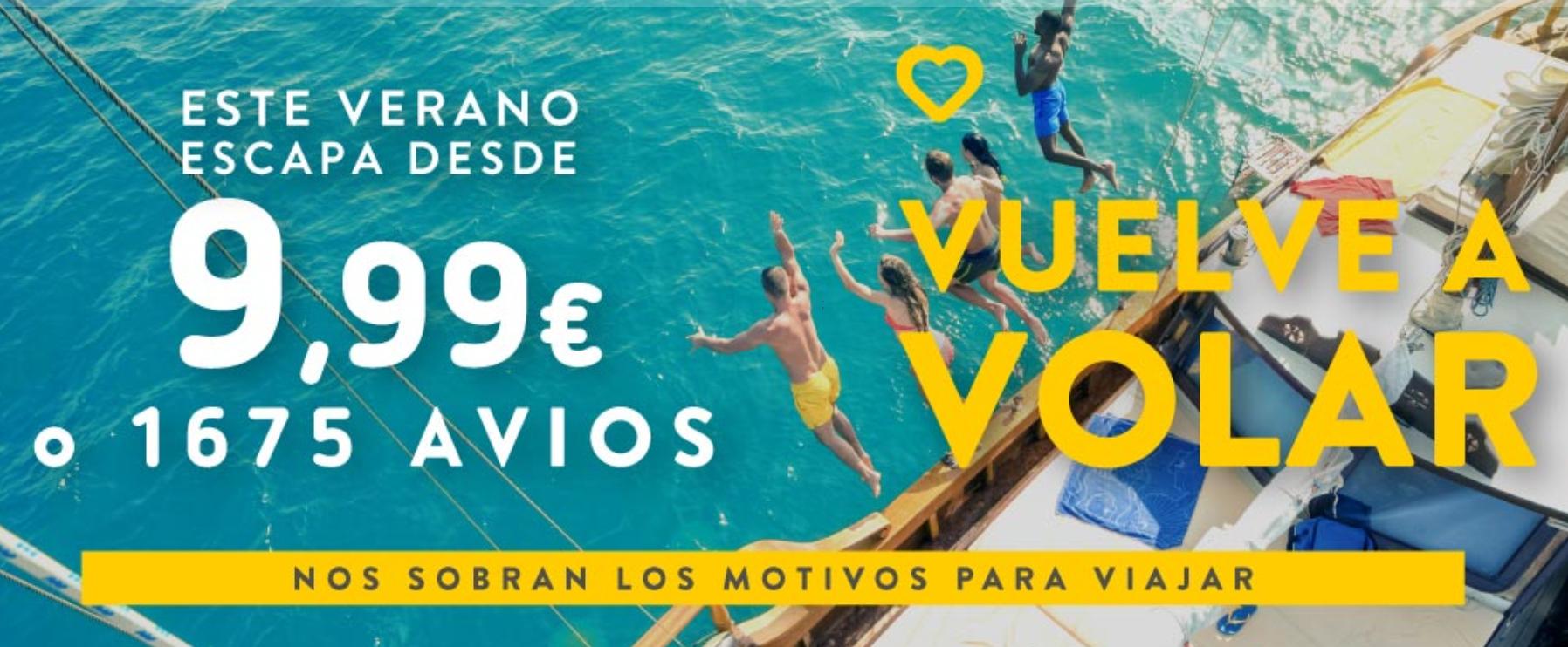 Vuelos a 9,9€ en Vueling