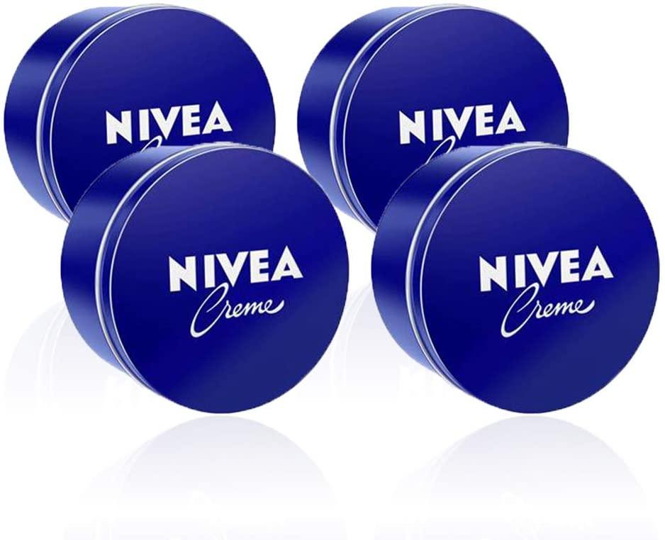 4x NIVEA Crema Hidratante para Manos, Cara y Cuerpo