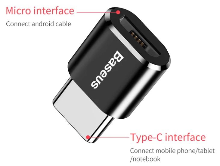Adaptador Micro USB a Tipo C Baseus