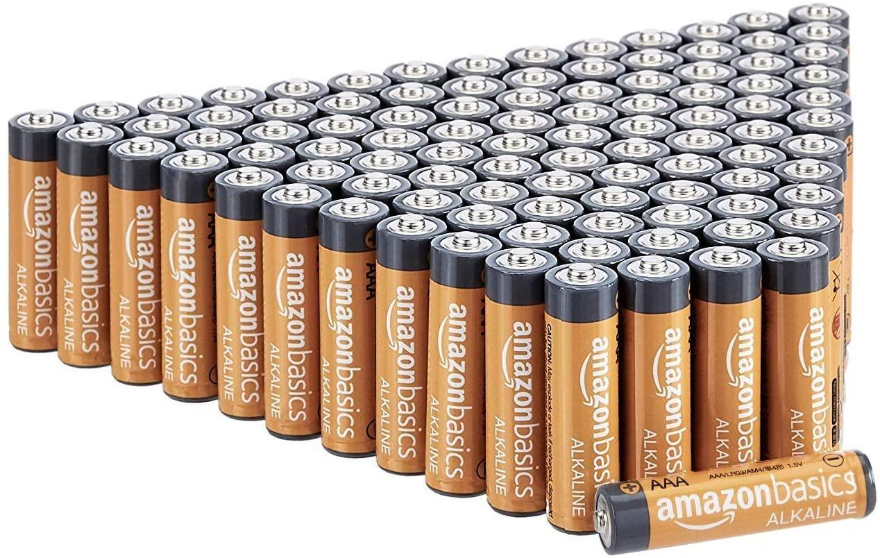 100 Pilas alcalinas AAA Amazon Basics