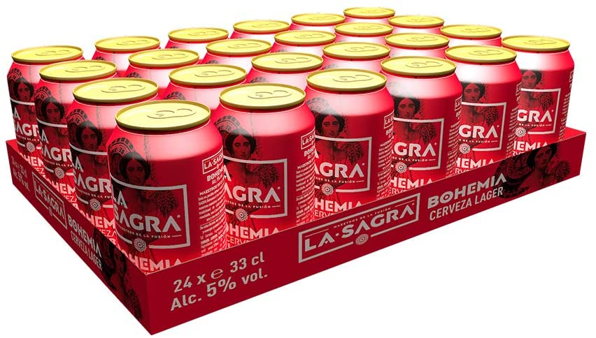 Cerveza Lager estilo Pilsener La Sagra Bohemia 24 latas x 330 ml
