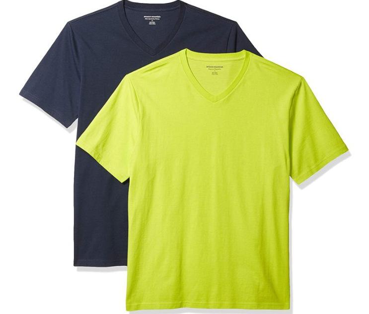 Camiseta de manga corta de cuello de pico  2 unidades