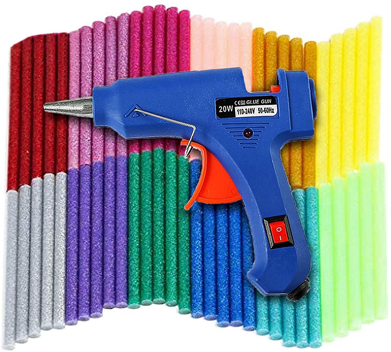 Mini pistola de silicona con 60 barras