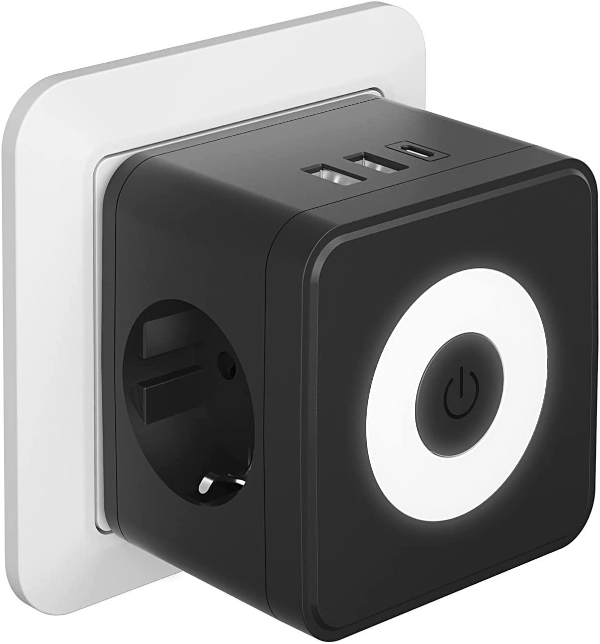 Enchufe USB 5 en 1