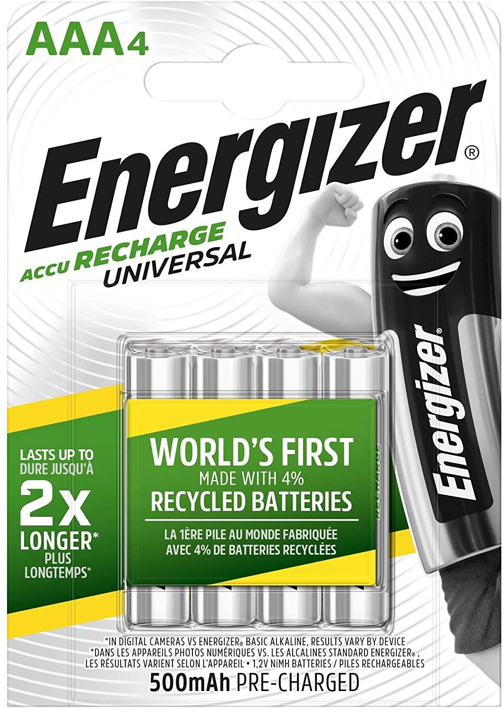 Pack  4 Pilas Recargables AAA Energizer