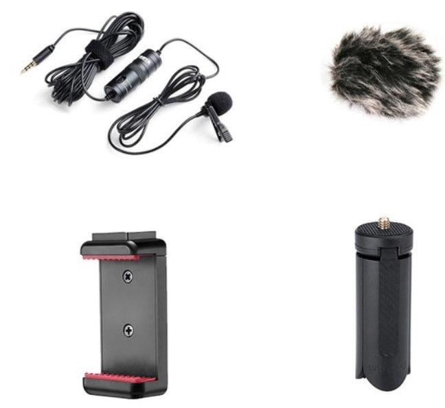 Micrófono de solapa amplificado BOYA BY-M1 Pro + accesorios