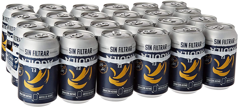 24 latas cerveza especial sin filtrar El Águila