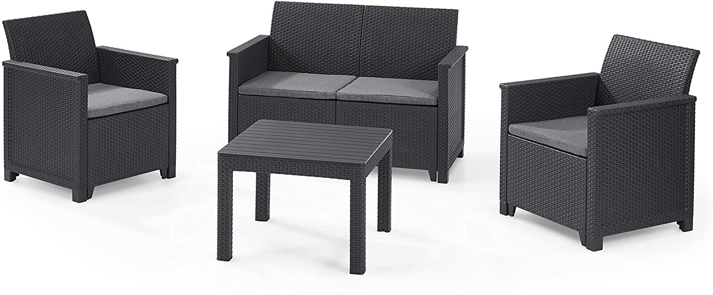 Conjunto de 3 sillas + mesa para jardín