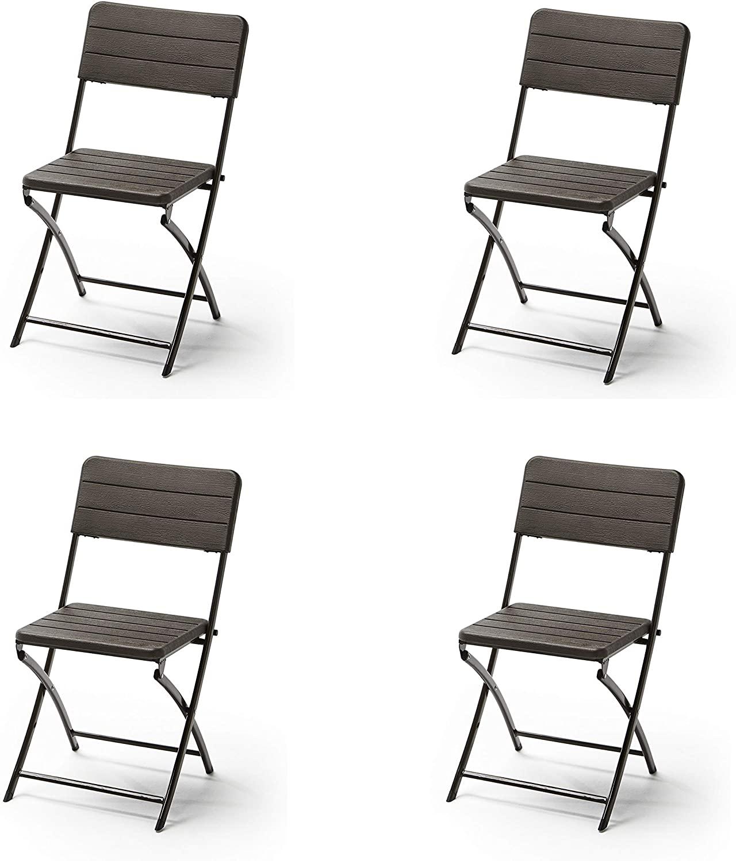 Pack de 4 sillas plegables