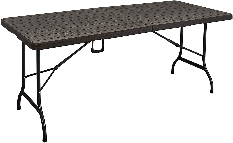 Mesa plegable multifuncional imitación madera