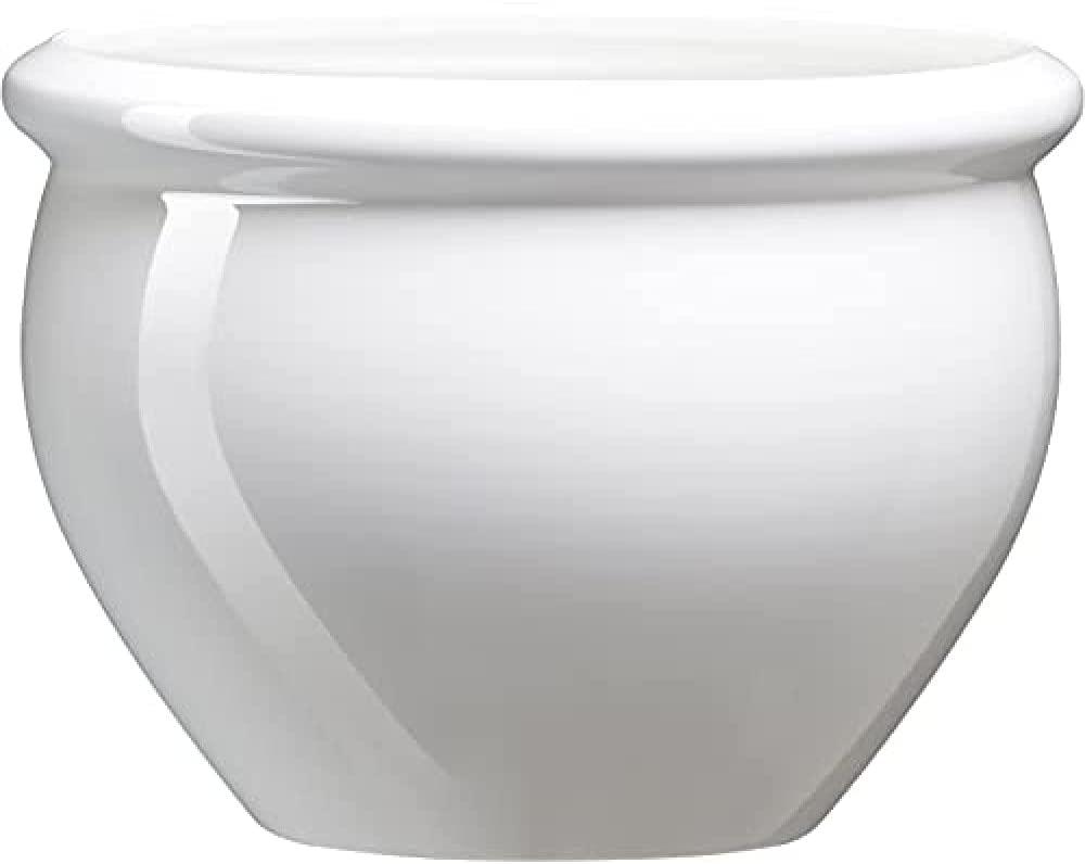 Maceta con aspecto de cerámica vidriada