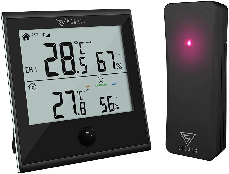 Termómetro higrómetro digital para interior y exterior