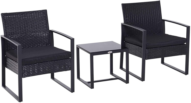 Conjunto de jardín de 2 sillas + mesa