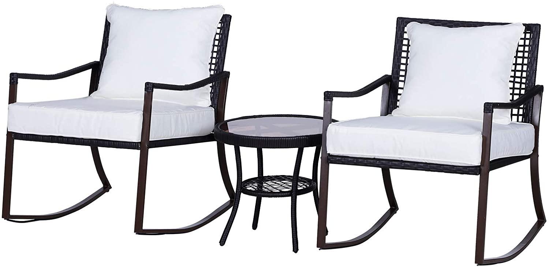 Conjunto de muebles y mesa para jardín