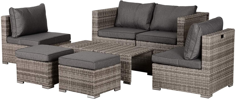 Conjunto 8 Piezas de sillas y mesa para exterior