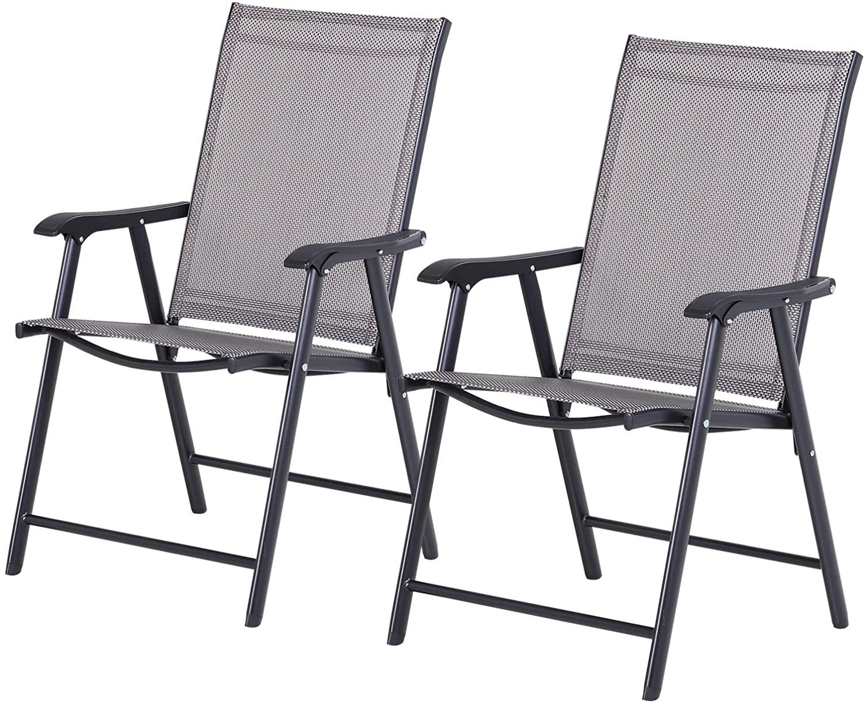 Conjunto de 2 sillas plegables para exterior