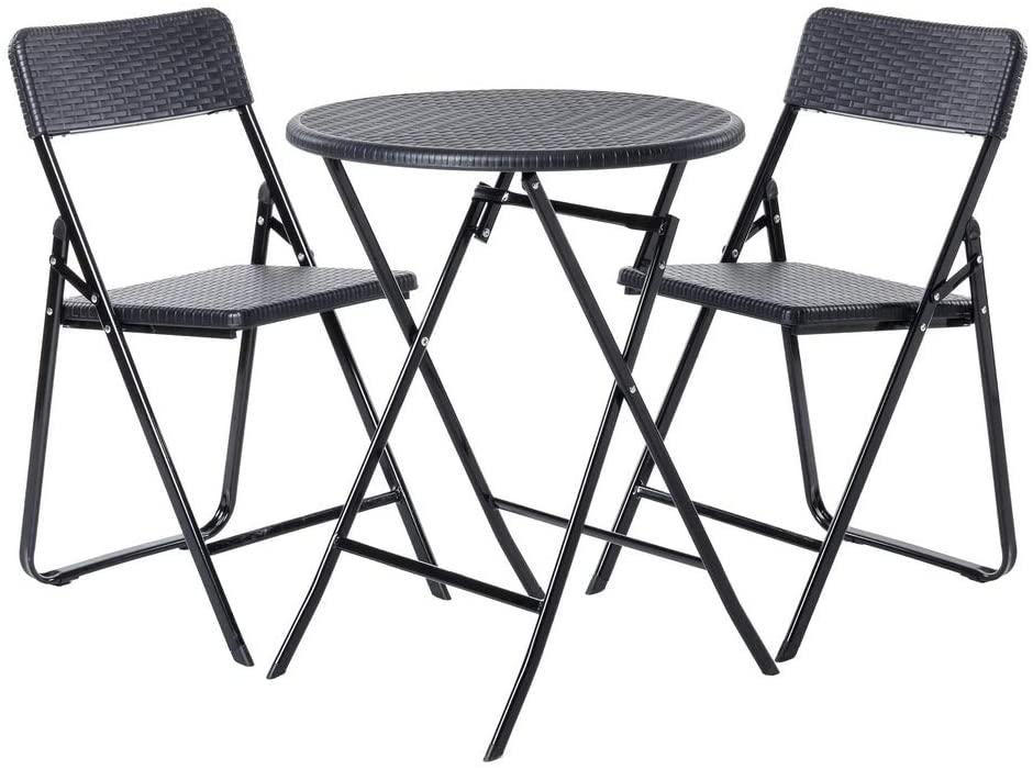 Conjunto de 2 sillas y mesa para jardín