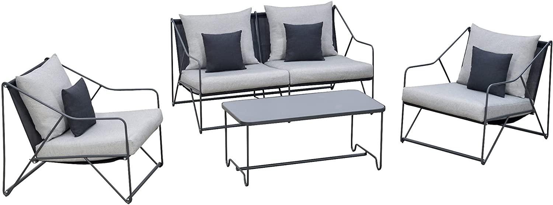 Outsunny Conjunto de muebles de jardín de 4 piezas