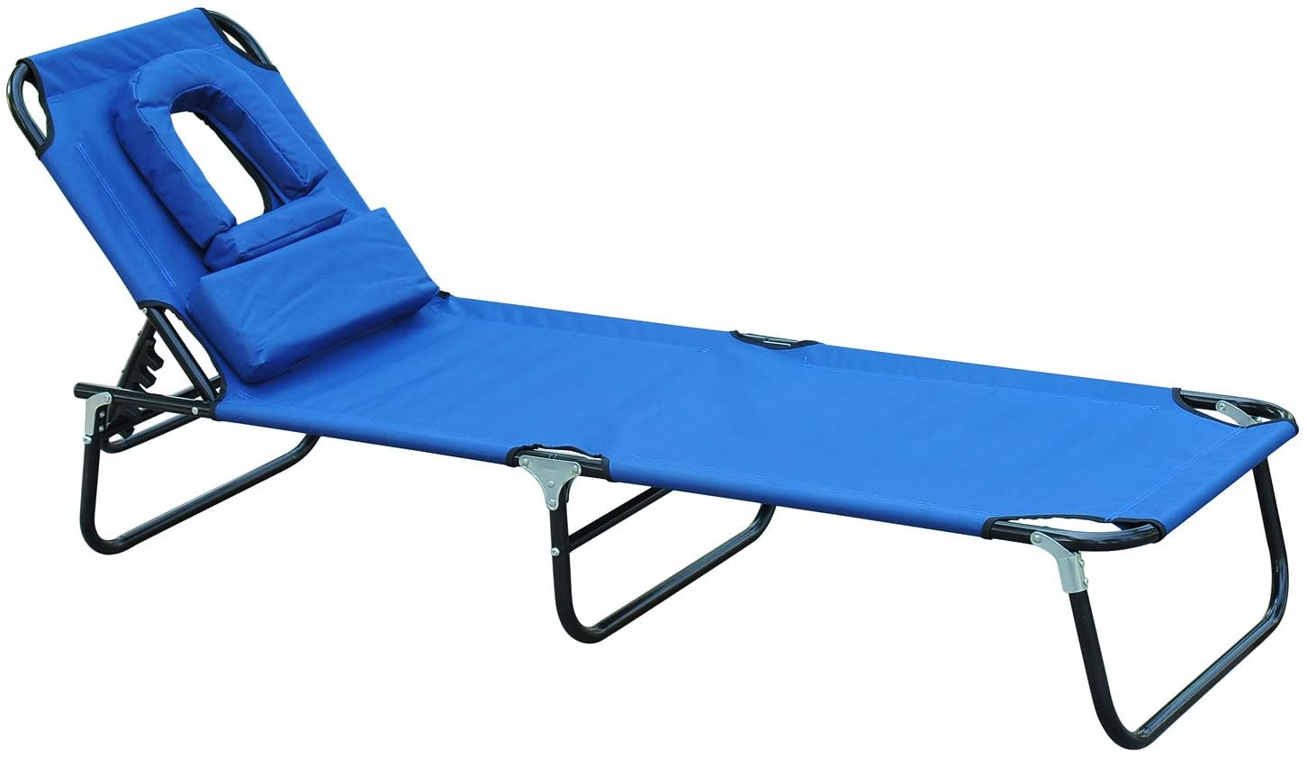 Outsunny Tumbona reclinable y plegable
