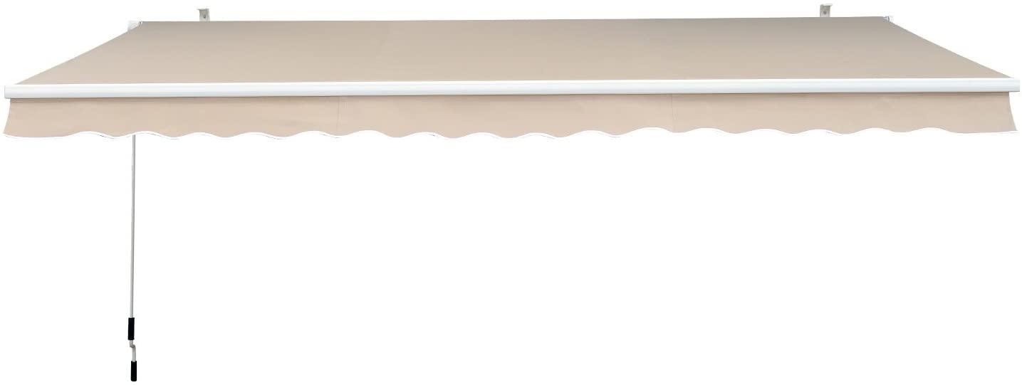 Outsunny Toldo manual plegable de aluminio