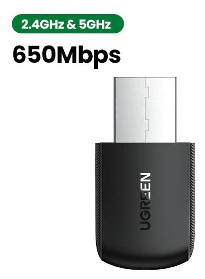 Adaptador WiFi 650Mbps