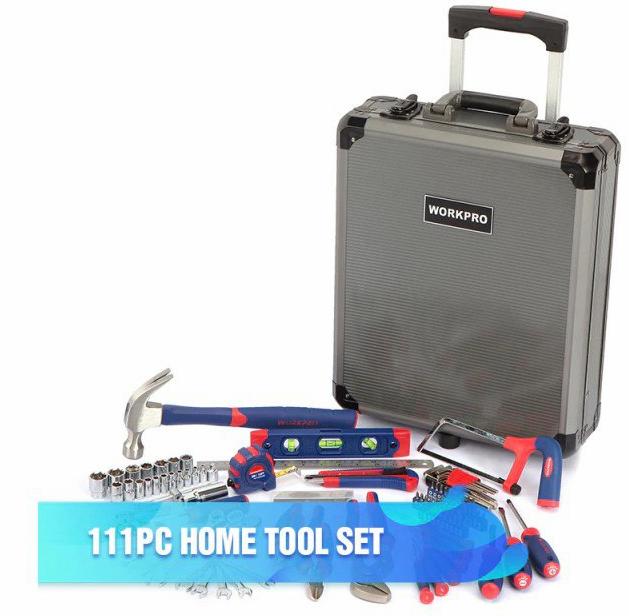 Maletín con ruedas y 111 herramientas WORKPRO