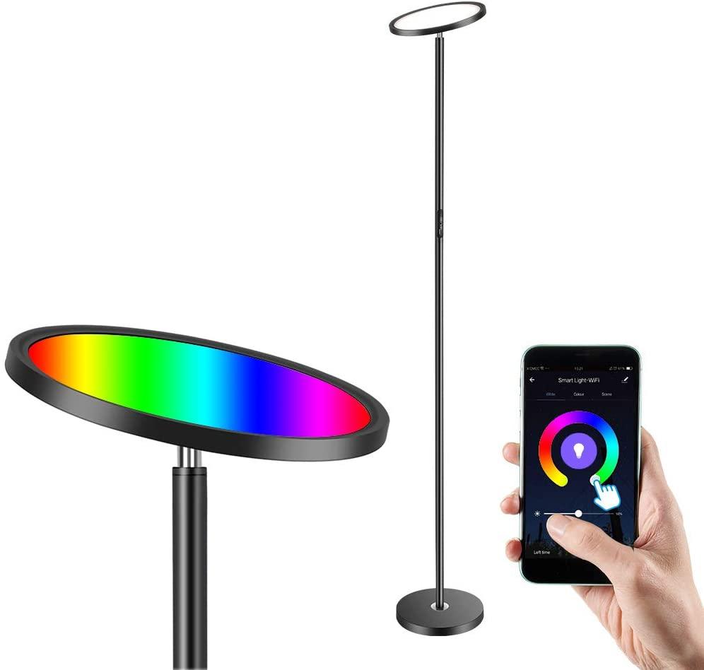 Lámpara de pie LED Anten Uplight regulable
