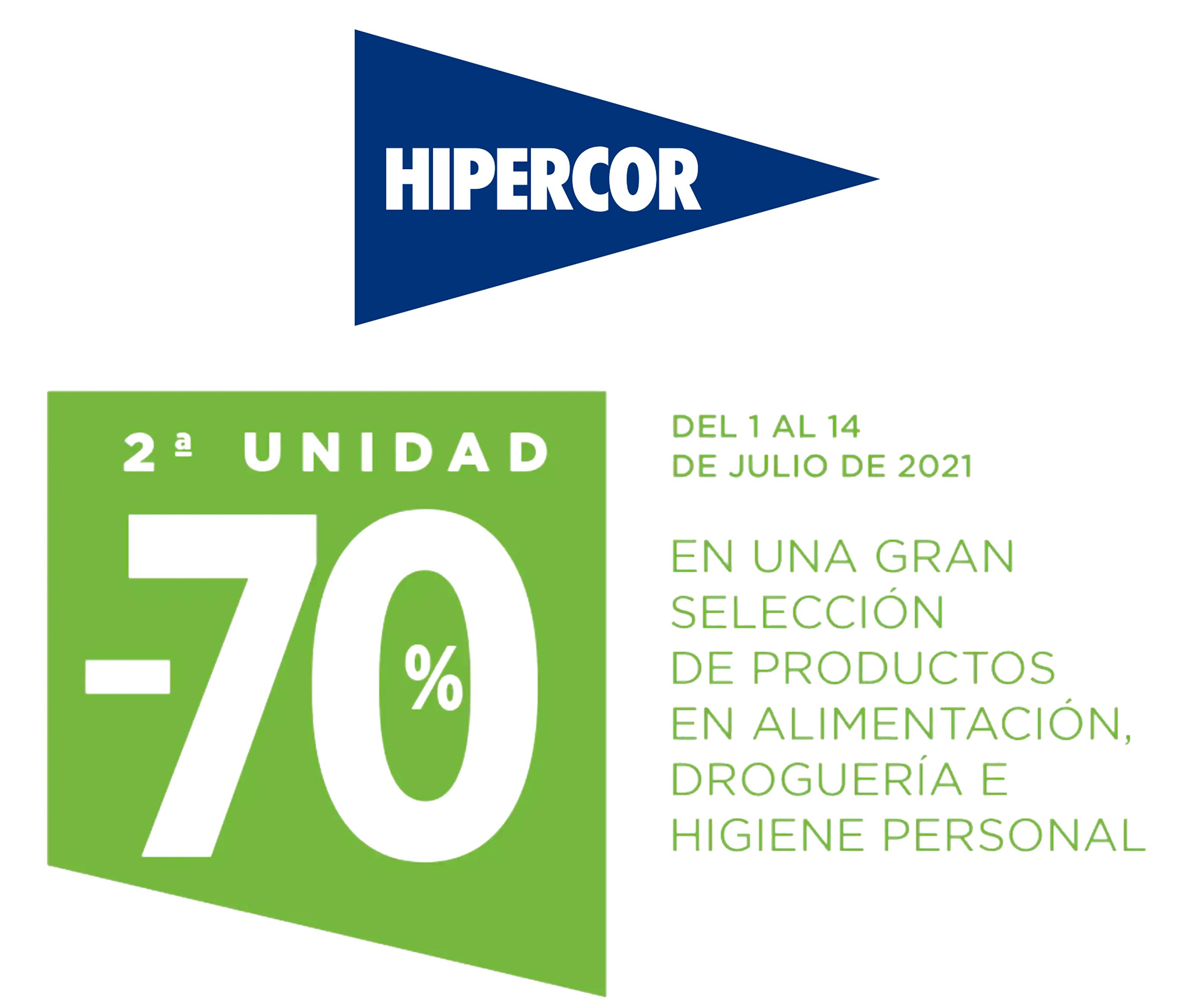 2ª Unidad al -70% en Hipercor