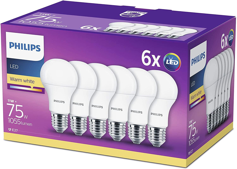 Pack 6 bombillas Philips Lighting LED 75W
