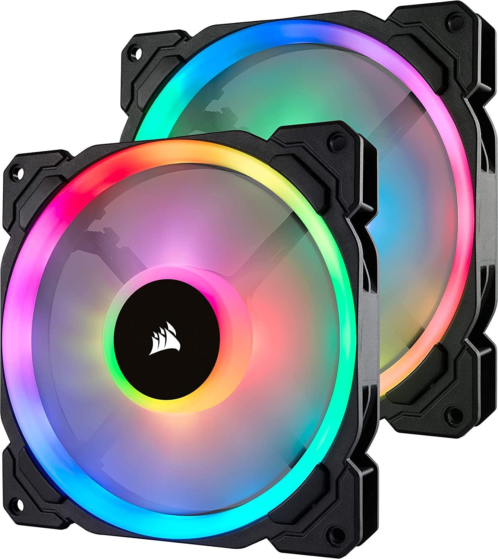 Pack 2 ventiladores RGB Corsair LL140