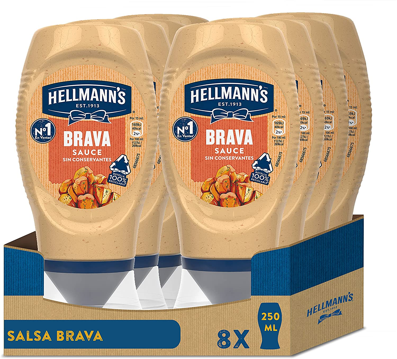 Pack 8 botes Hellmann's Salsa Brava Bocabajo