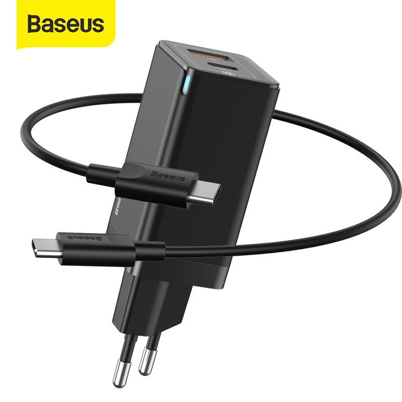Cargador QC Baseus 45W + Cable 60W