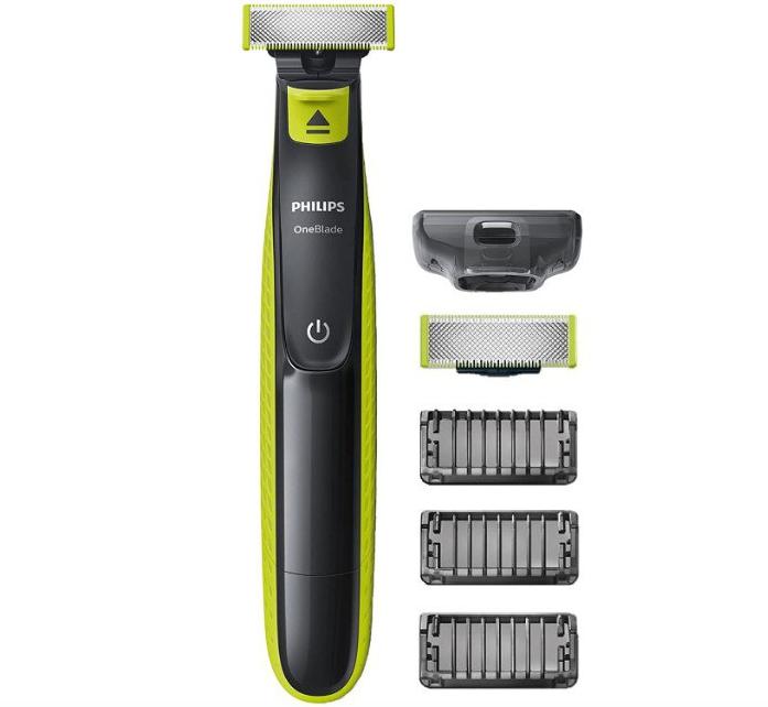 Recortadora de barba Philips OneBlade + Accesorios