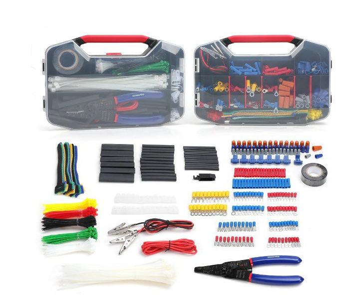 2xMaletín 582 piezas accesorios electricista