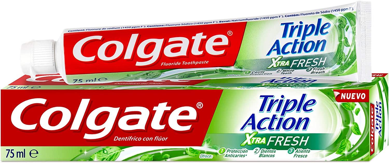 Dentífrico Colgate Triple Acción Extra Fresh
