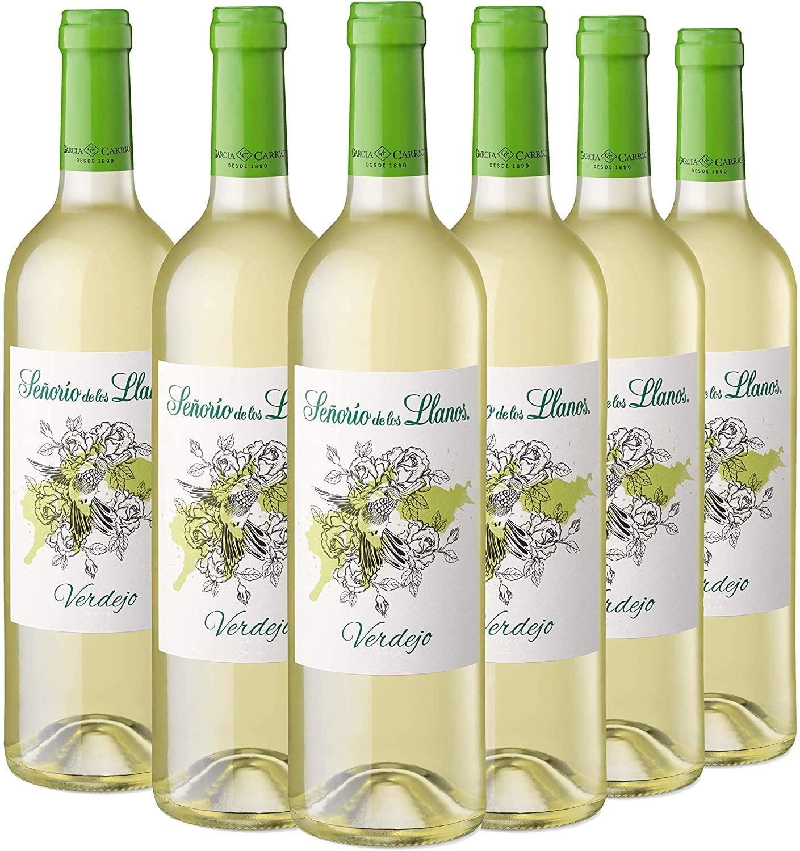 6 botellas de vino blanco verdejo Señorío de los Llanos