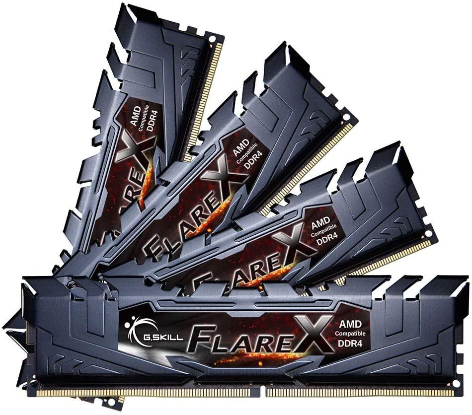 64GB DDR4 (4x16GB) G.Skill FlareX