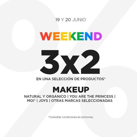 3x2 en diferentes productos de la tienda Primor