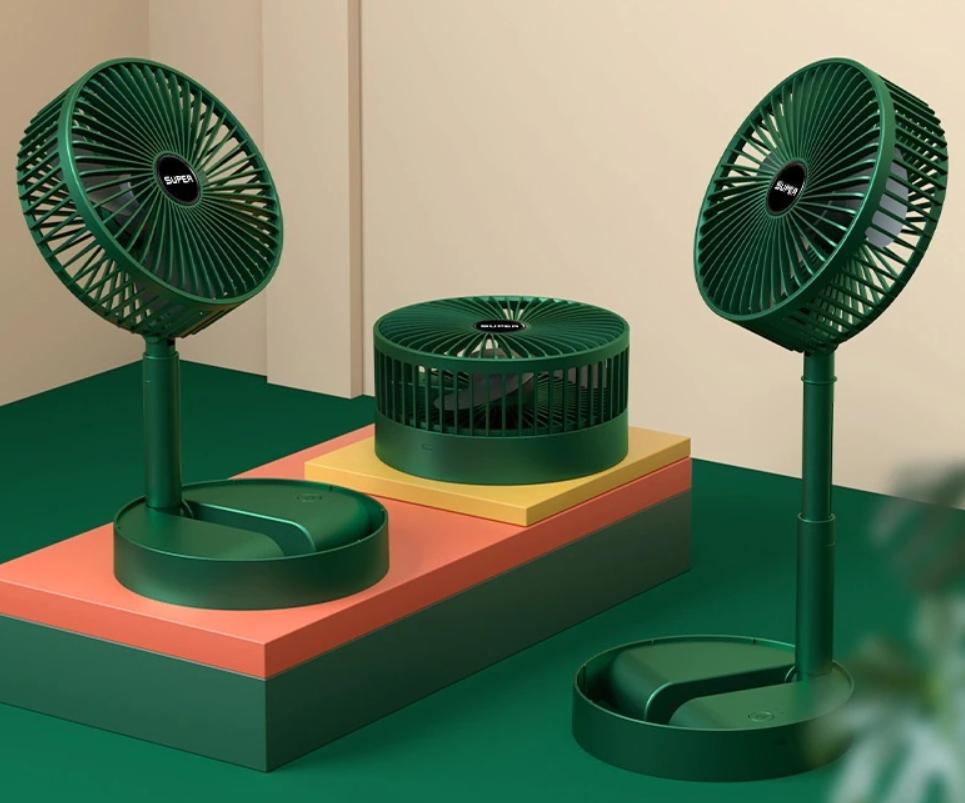Mini ventilador telescópico plegable